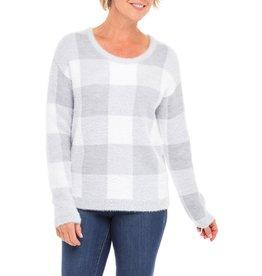 Tribal Tribal Long Sleeved Plaid Sweater