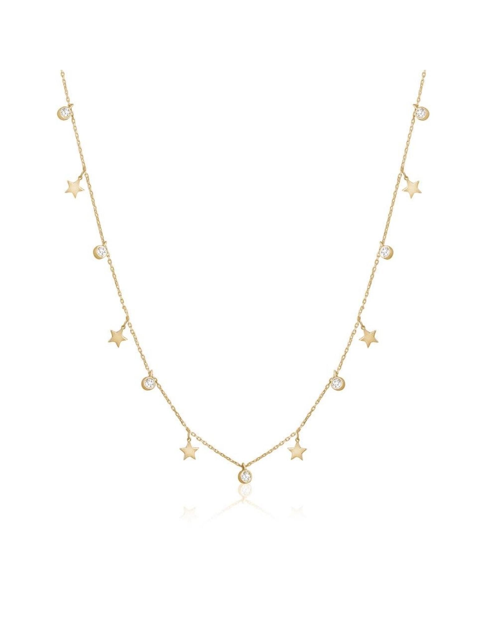 Limlim Dainty Stars + Crystal Necklace