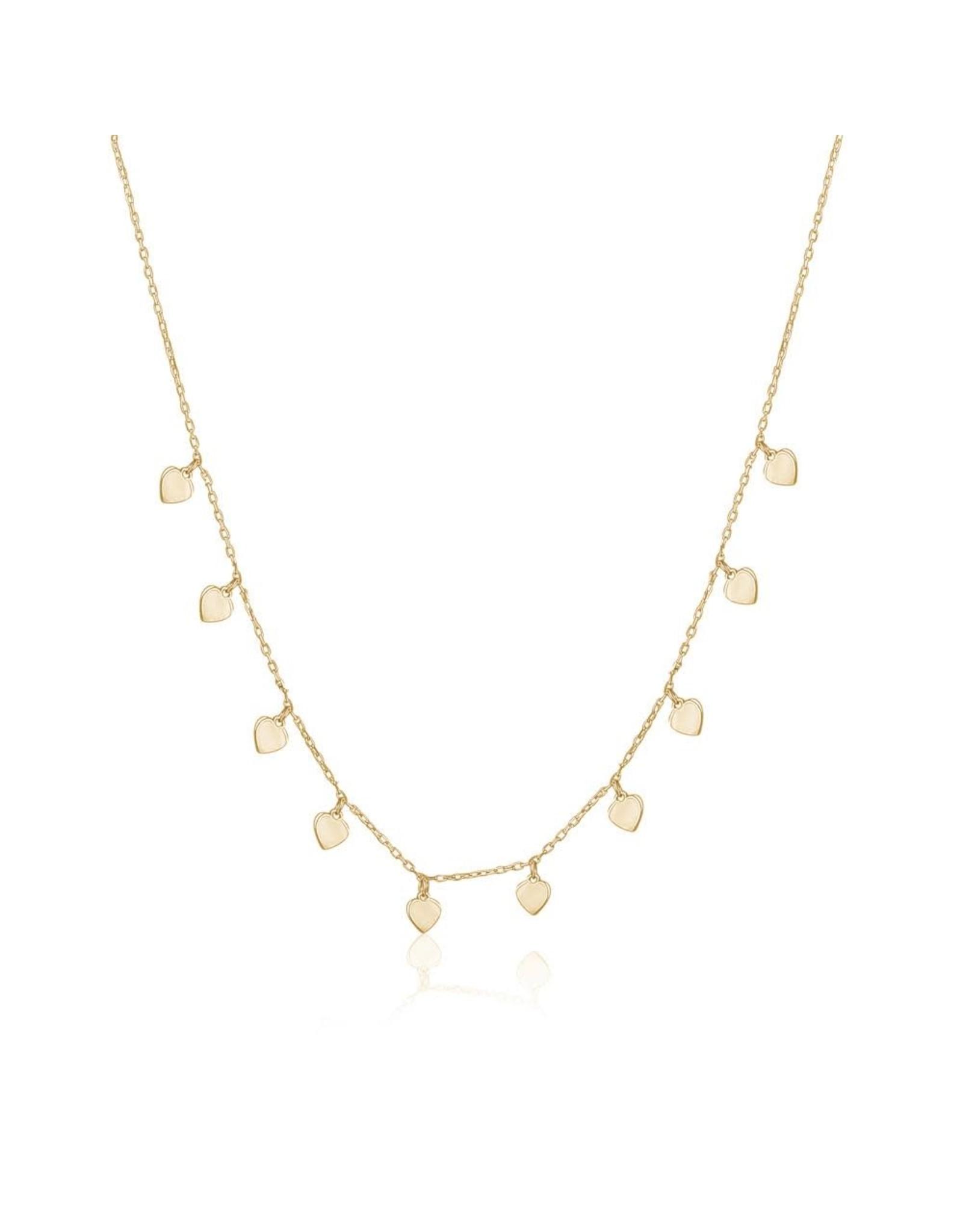 Limlim Dainty Hearts Necklace