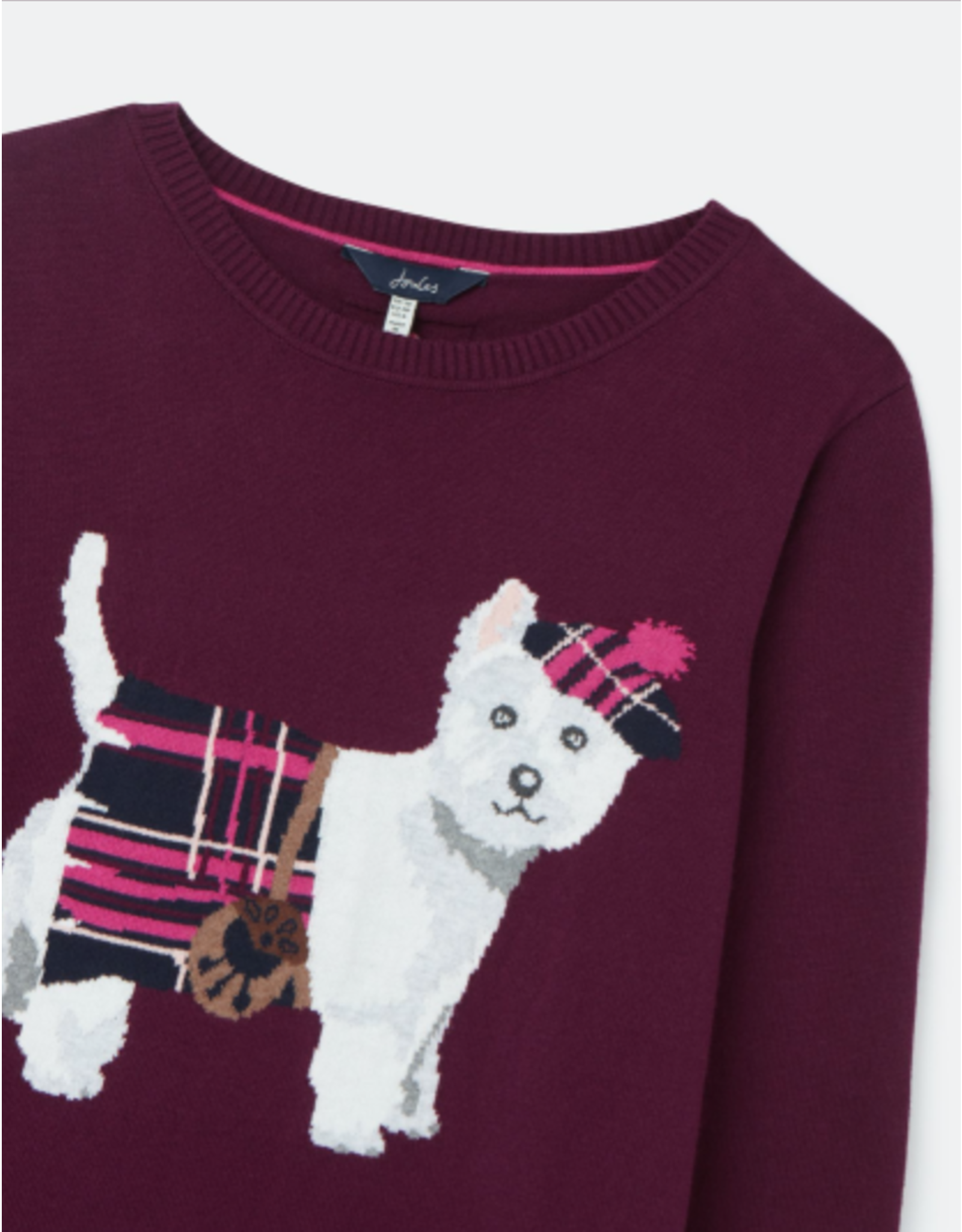 Joules Joules Miranda Plum Westie Sweater