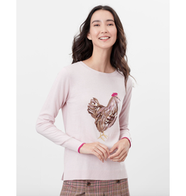 Joules Joules Miranda Pink Chicken Sweater