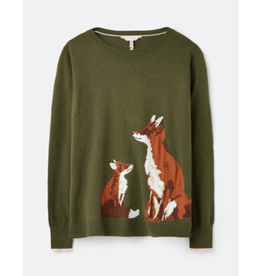 Joules Joules Miranda Green Fox Sweater