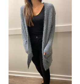 AOLE Fuzzy Cardi with Pockets