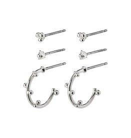 Pilgrim Pilgrim Gracefulness Earrings Silver Plated