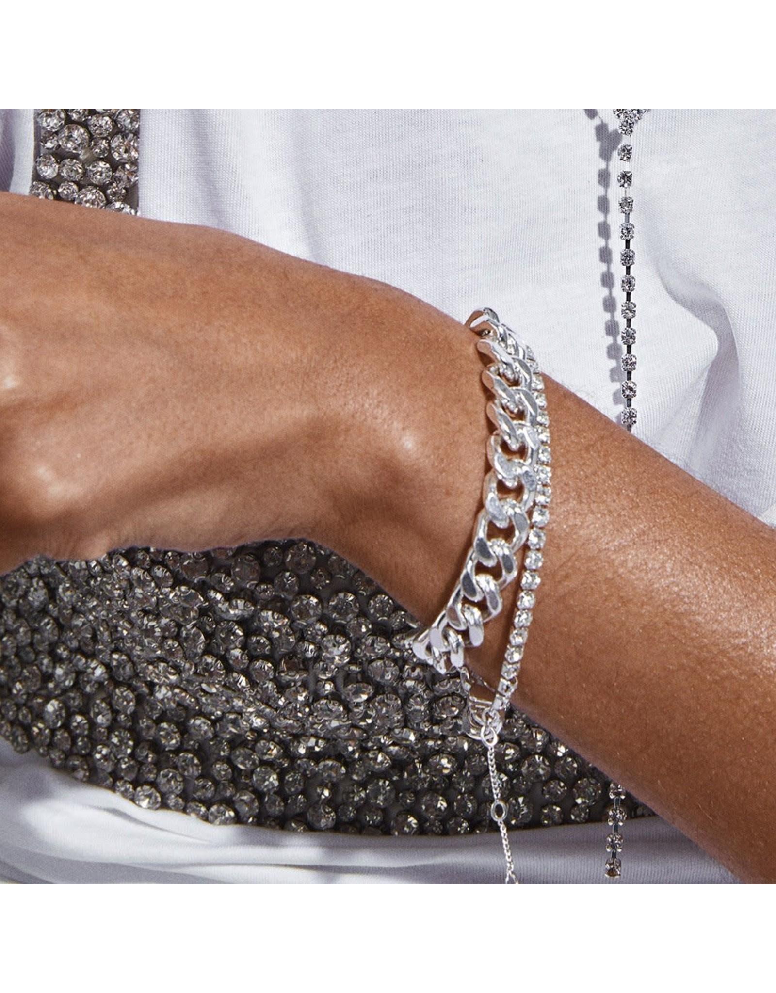 Pilgrim Pilgrim Radiance Bracelet Silver Plated Crystal