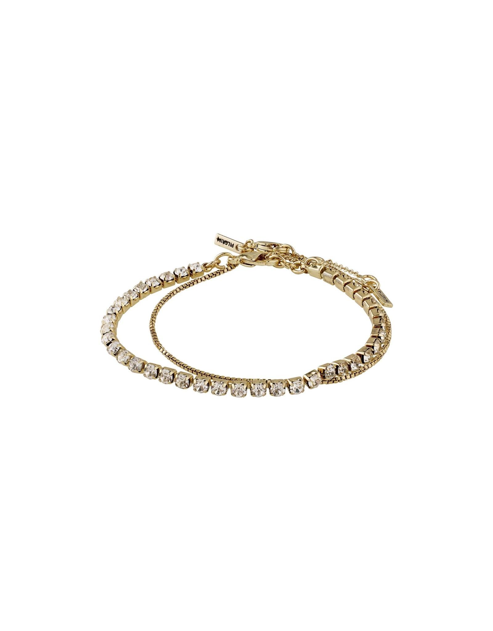 Pilgrim Pilgrim Compassion Bracelet Gold Plated Crystal