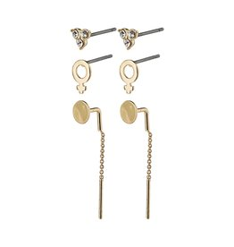 Pilgrim Pilgrim Malak Earrings Gold Plated Crystal