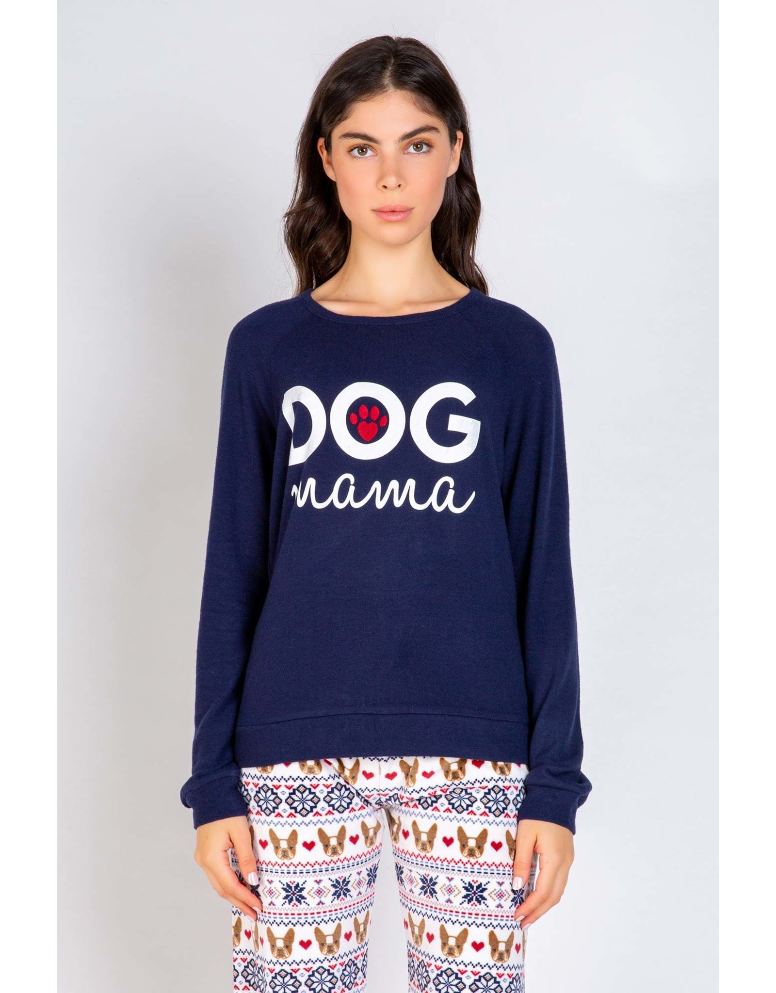 PJ Salvage PJ Salvage Dog Mama LS Top