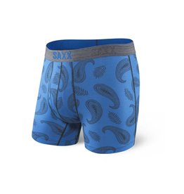 Saxx Saxx Platinum Boxer Brief Fly - Blue Pop Paisley