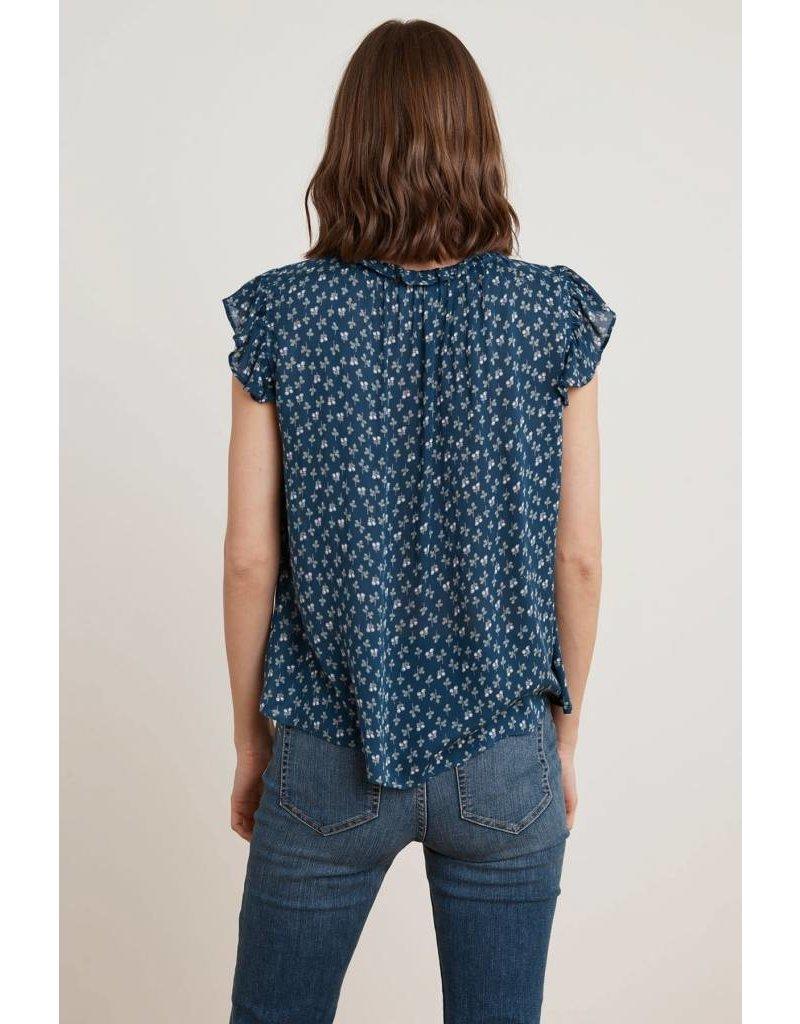 Velvet Velvet Tirion Sheer Printed Gauze Sleeveless Top