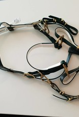 Endurance Bridle - Heritage Green with White - Cob