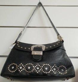 Faux Leather Black Handbag