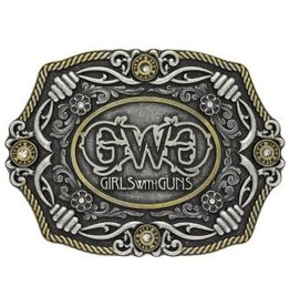 Montana Silversmiths Girls with Guns Buckle Silver