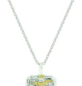 Montana Silversmiths Heirloom Gold Running Horse Necklace