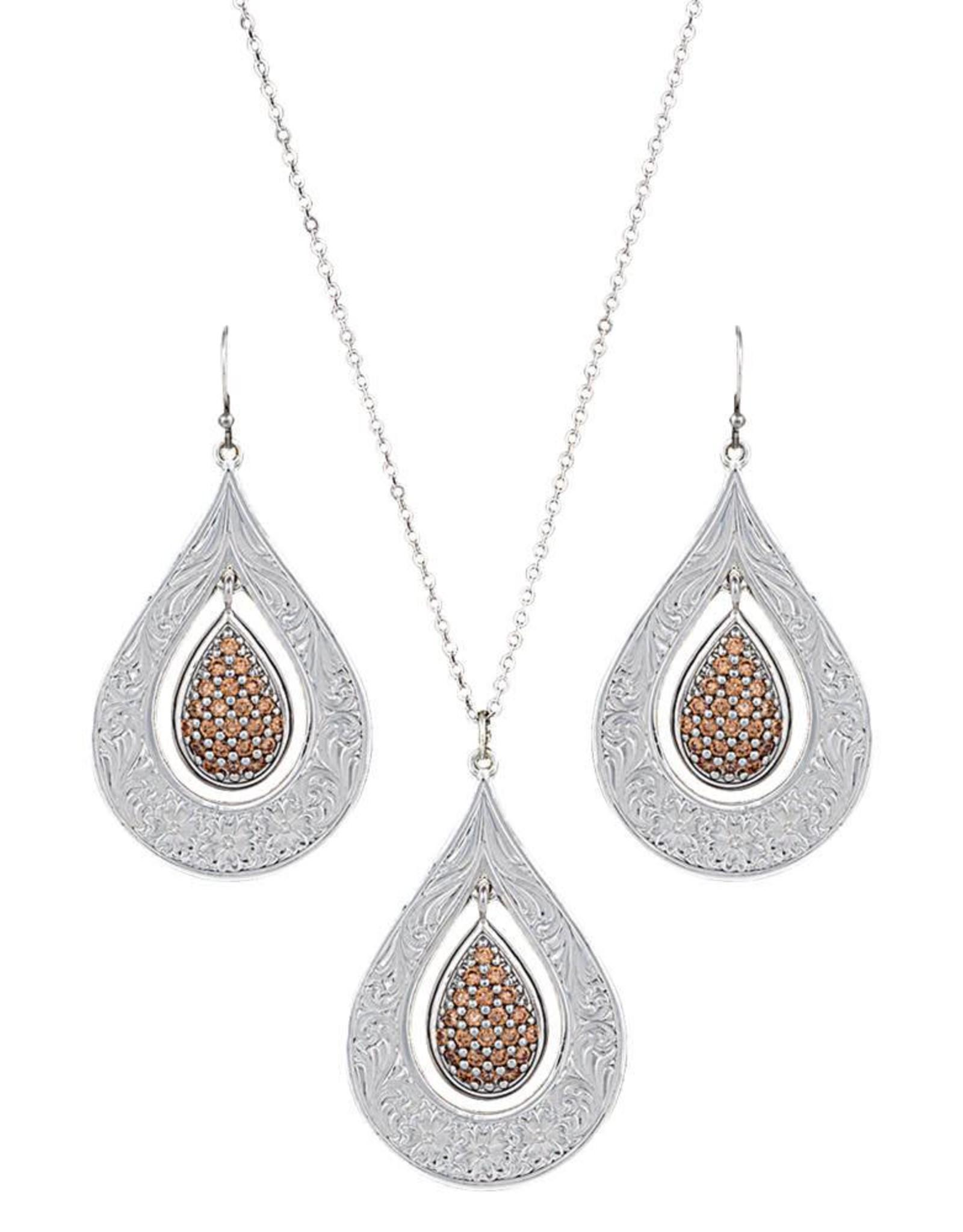 Montana Silversmiths Flowers Champagne Spark Jewelry Set