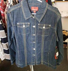 Thomas Cook Thomas Cook Women Stretch Denim Jacket - Indigo -Size L