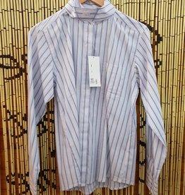 Windsor Apparel Long Sleeve Ratcatcher Shirt  - Navy/Pink/Grey - Size 14