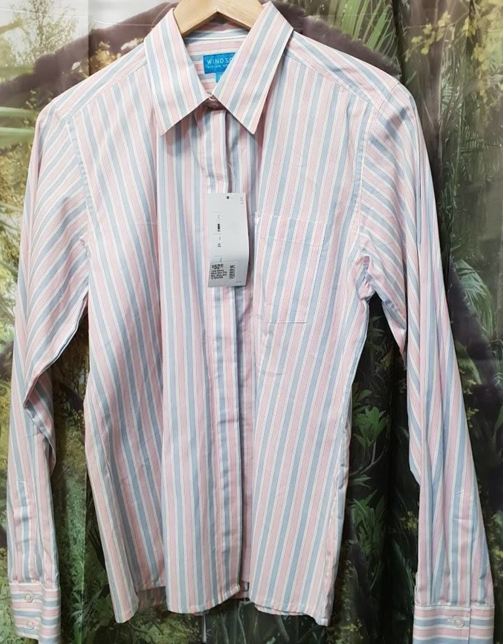 Windsor Apparel Long Sleeve Show Shirt - Pink/Blue/White - Size 12