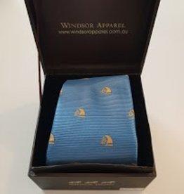 Windsor Apparel Tie Child's Horse Head - Lagoon/Gold