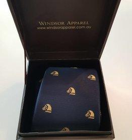 Windsor Apparel Tie Child's Horse Head - Navy/Gold