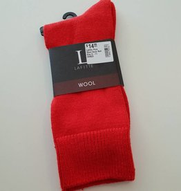 Lafitte Pure Wool Sock - Red - Size 6-11