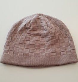 Beanie Light Brown Knitted