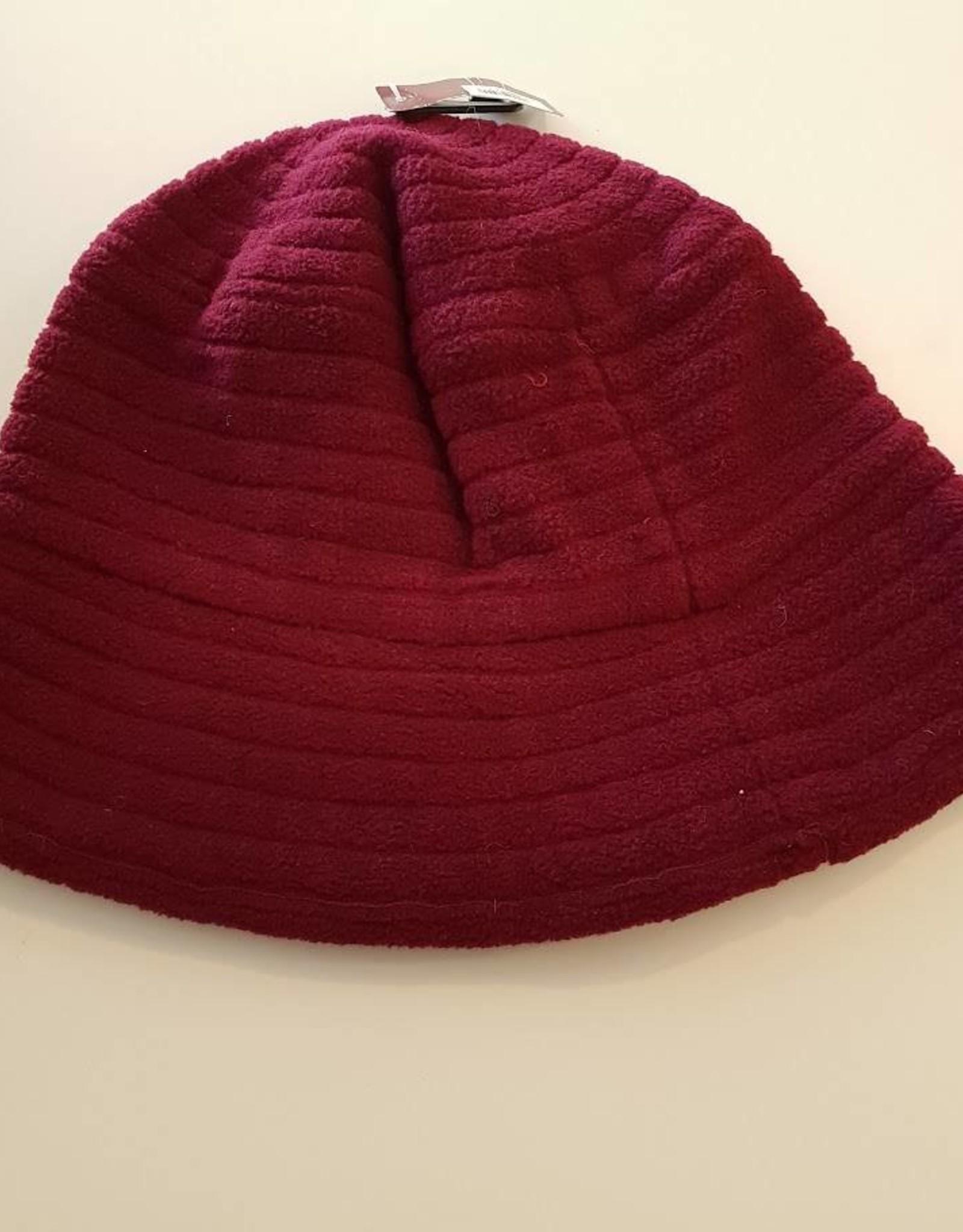 Polar Fleece Hat-Burgundy - 56
