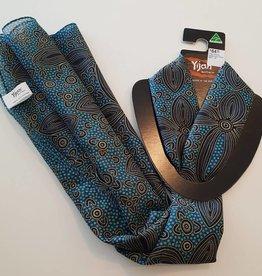 Yijan Scarfe Indigenous Print Blue/Black