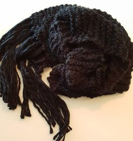 Scarf Black Heavy Knit