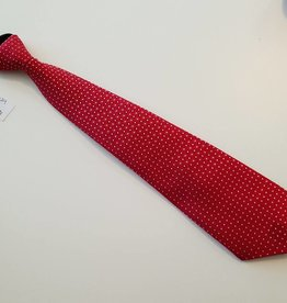 Show Tie - Red with White Polka Dot