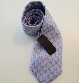 Louis Vuitton Crav Rayures Gris Clair Tie - Mauve