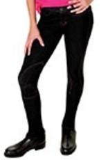 Lyndi J Kidz Hipster Jodhpur - Black with Pink Stripe - Size 10