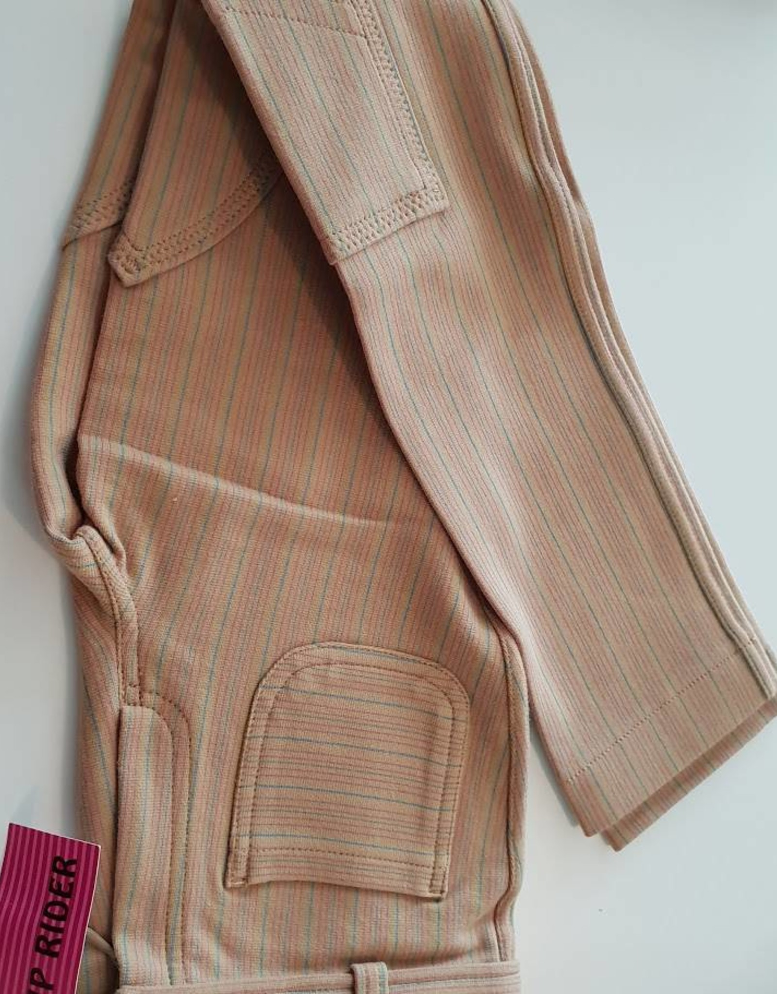 Windsor Apparel Jodhpur Hipster - Beige with Pink/Green Stripe - Childs Size 10