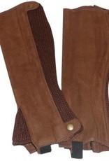 ShowCraft Elastic Rib Chapettes - Brown - Medium