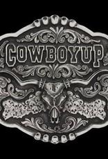 Montana Silversmiths Cowboy Up Skulls  Buckle