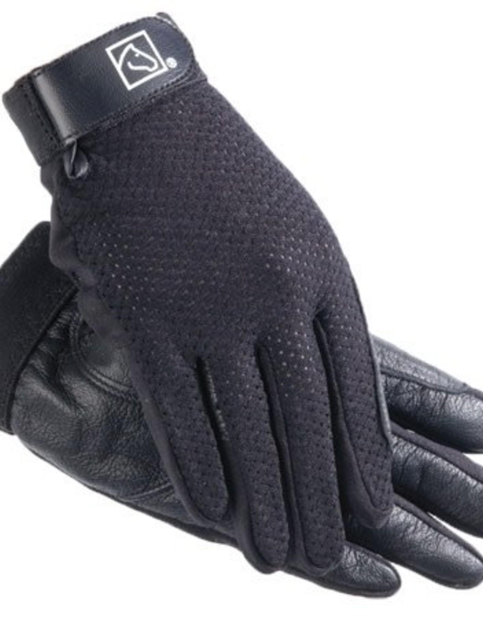 SSG SSG Kool Flo Glove Lycra Mesh Back -  Black - Ladies Size 6/7