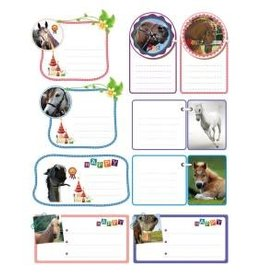Invitation Present Labels with Horses Pack of 5 sheets