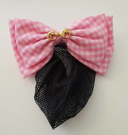 Show Bow  -Pink/White with 2 Horse Heads