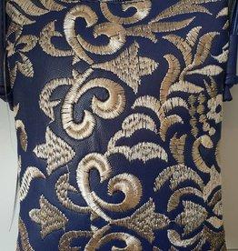 Shoulder Bag Navy Blue and Gold