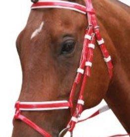 Status Status PVC Hanavarian Noseband Event Bridle - Red - Pony