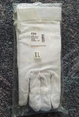 Cotton Pimple Grip Gloves - White - Size XL