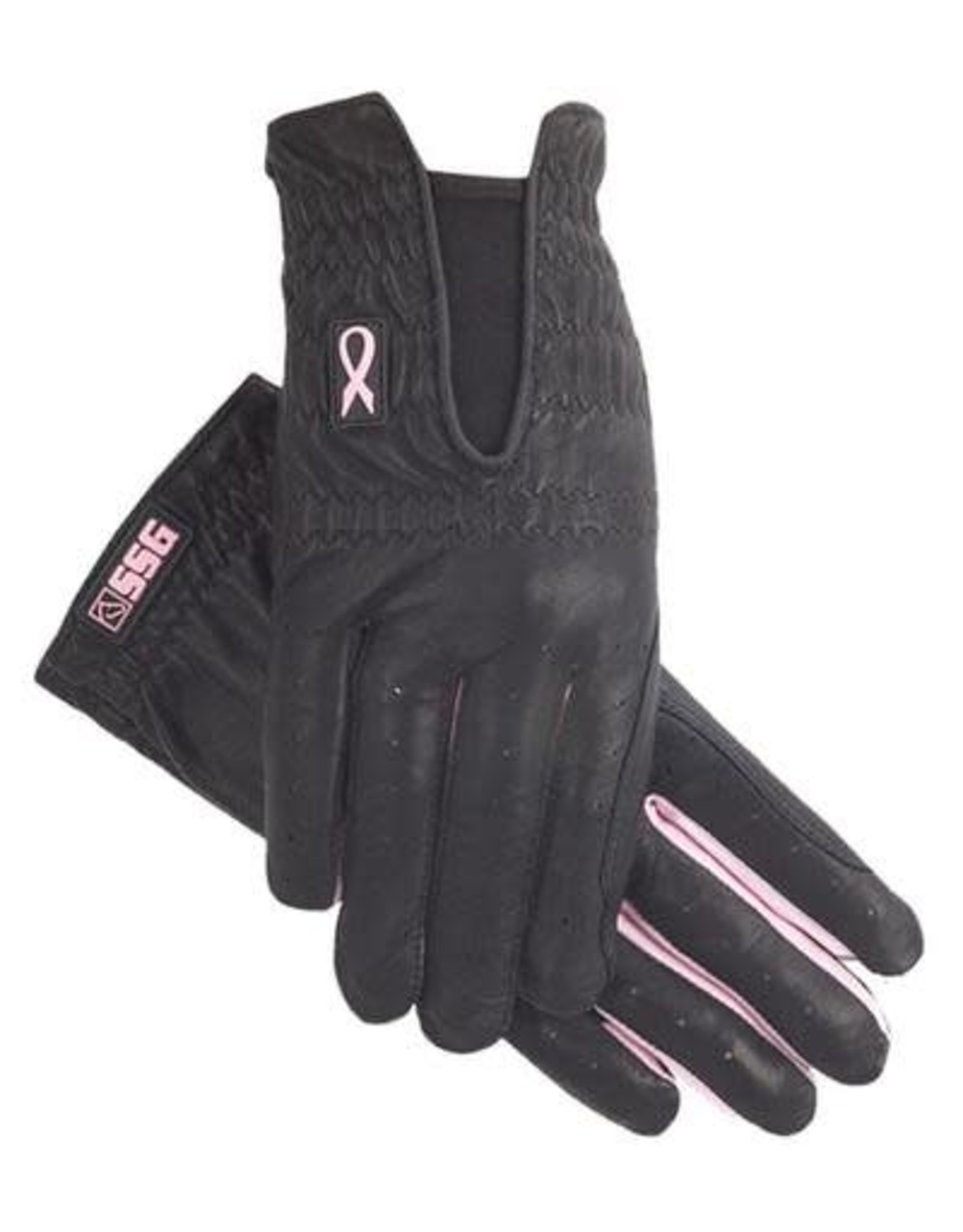 SSG SSG Riding Gloves ' for Hope' Cabretta Leather Spandex Gussets - Black - 7.5