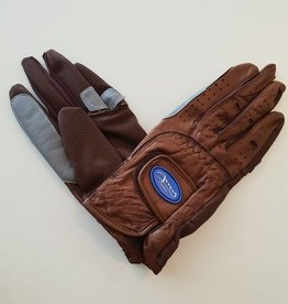 Amy - Sheepskin Gloves  with Supa Grip - Brown - Size 6
