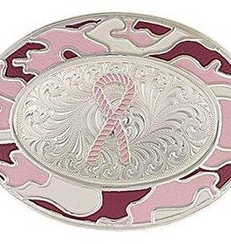 Montana Silversmiths Western Buckle - Pink Ribbon