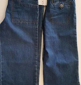 Thomas Cook Thomas Cook Girls Soft Denim 3/4 Pant - Dark Indigo - Size 6