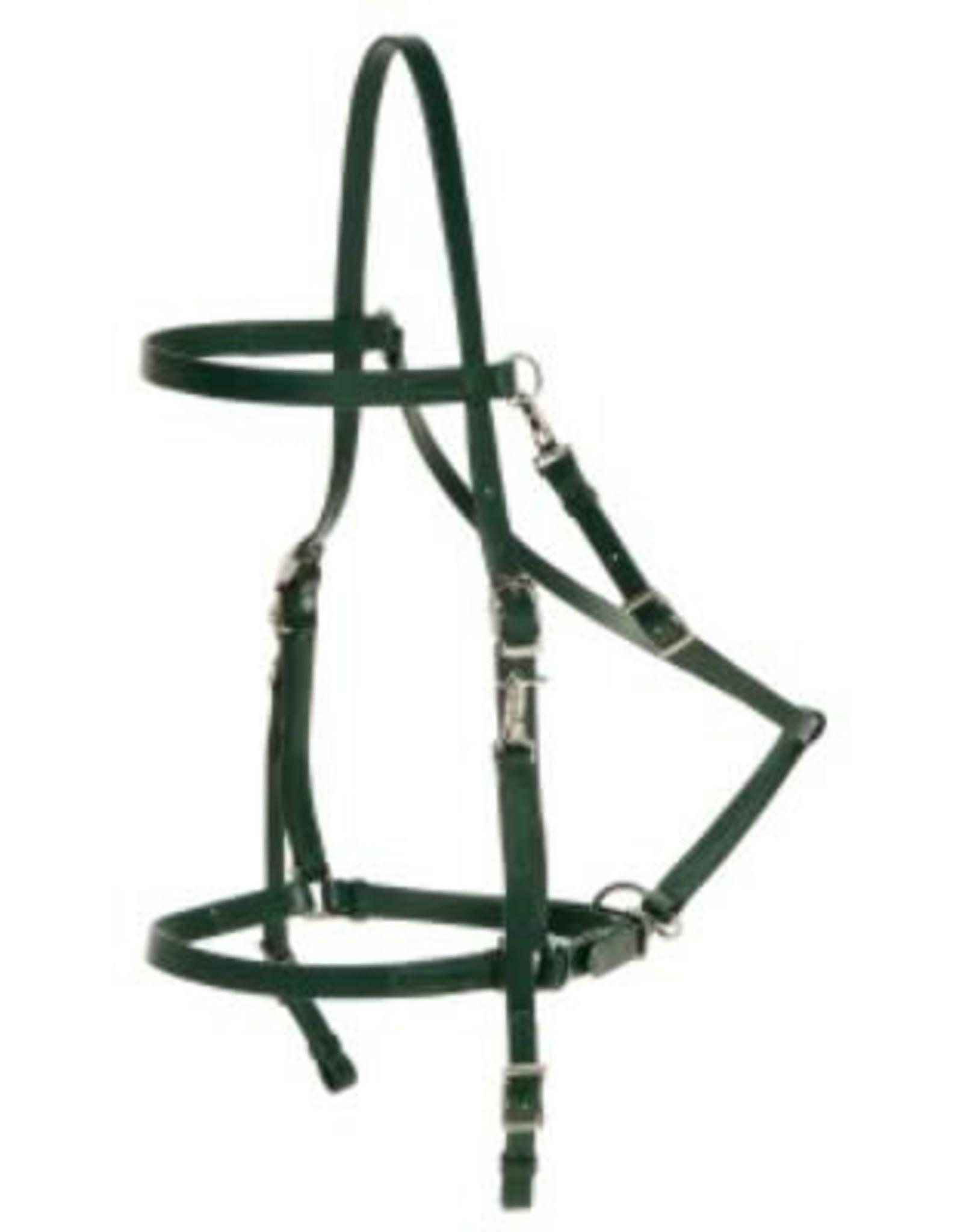 Y Line Quick Release Endurance Double Head Bridle -White - Cob