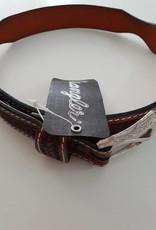 """Wrangler Wrangler Kid's Tooled Leather Belt Tan  - 24"""""""