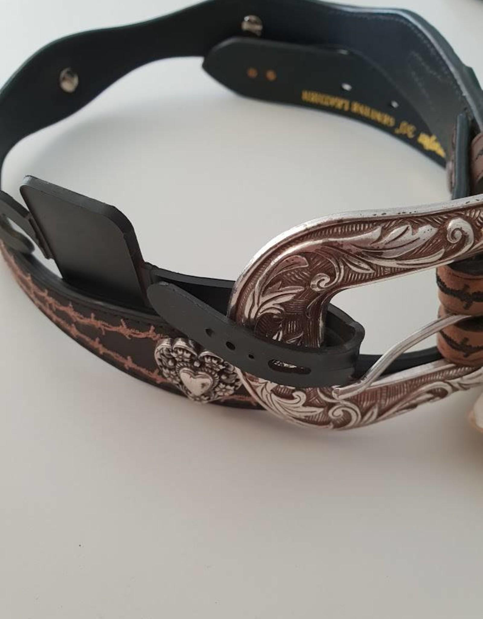 Wrangler Wrangler Barb Heart Belt Black/Brown 30