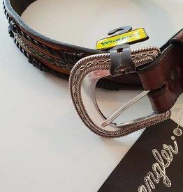 Wrangler Wrangler Grayson Belt - Dark Brown/Tan - 36