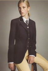 Windsor Ladies Pinstripe Jacket - Navy with Silver Piping - Size 14